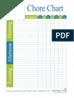 Chore Chart Frame