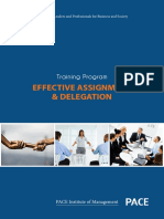 Effective Assignment & Delegation
