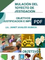 FORMULACION PROYECTO INVESTIGACION - CLASE MISS JANETH PREGRADO [Autoguardado].ppt