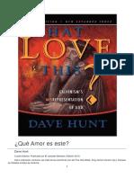 ¿Qué Amor Es Este Dave Hunt