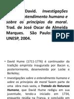 Teoria Do Conhecimento. Hume