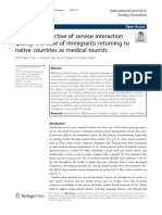 A Value Perspective of Service Interaction Medical Tourism