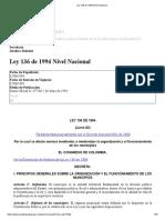 Ley 136 de 1994 Nivel Nacional