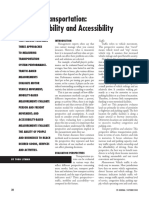 Measuring Transportation Traffic, Mobility, Accessibility 2003