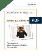 02a Texto Impreso - Afiche Obra Teatral Doc