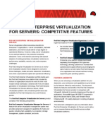 Red Hat Red Hat Enterprise Virtualization for Servers Competitive Features