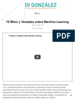 10 Mitos y Verdades Sobre Machine Learning - Ligdi González