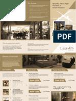 Hotel A3 Tri Fold Brochure Template