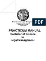 PRACTICUM MANUAL 2009 (Legal Management)