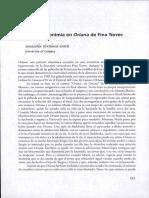 Musica y Metonimia en Oriana de Fina Torres