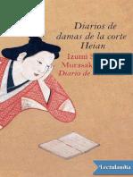Shikibu, Murasaki - Diarios de Damas de La Corte Heian