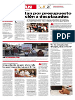 Limitan Presupuesto a Desplazados Sinaloa