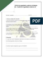 Evaluación  Tema  ley 29783 y comite (1)