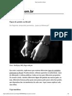 Tipos de Prisão No Brasil