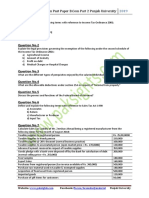 Business Taxation Past Paper 2019