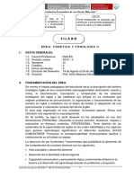 Silabo Phonetics and Phonology II- Inglés VI - 2019- II