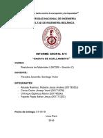 """""""ENSAYO DE FLEXIÓN Y CIZALLAMIENTO"""" grupal"""