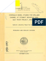 Model studies of Dam