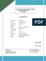 Vehicle Dynamics Course Plan 2019