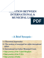 municipal law and international law