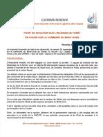 Communiqué n°6 - Feu de végétation commune de MONT-DORE du 03122019