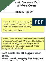 Powerpoint-Dulce Et Decorum Est