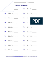Division Worksheet