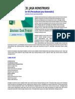 Akuntansi Excel Jasa Konstruksi
