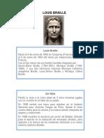 Historia Braille