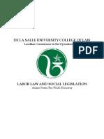 Labor Law and Social Legislation