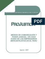 Medios de Comunicacion y Poder Judicial