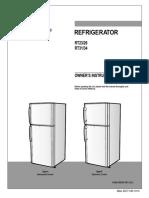 Rt25zvps1 Xtl Refrigeratormanuals Com