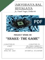 Snake Game Project- By Anurag Bhardwaj