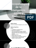 Inteligencia, Juicio y Raciocinio