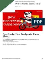 Foodpanda_ Case Study How Foodpanda Earns Money- Revenue Model