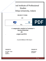 14816876 Project on Toothpaste Image Profile Analysis of Leading Brand Toothpastes