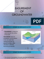 Measurement of Groundwater