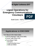 Digital Operations for Emergency Communications Volunteers