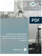 Impact Assessment of Natural Gas Production in the New York City Water Supply Watershed