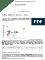 Análise da Música Brasileira Volume 1
