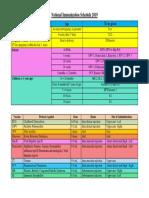 National Immunization Schedule 2018