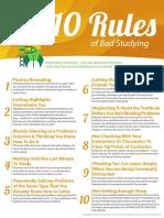 10 reglas del mal estudio