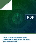 Data Science Platform Build vs Buy 2019