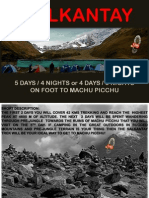 Salkantay, 5 days / 4 nights on foot to Machu Picchu