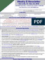 Newsletter 11 23 2010