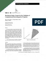 Benchmark Radar Targets for the Validation of Computational Electromagnetics Programs