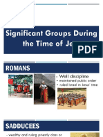 Groups of People in Jesus' Time