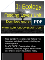 Ecology Feeding Levels Unit Powerpoint Part I/II for Educators - Download at www. science powerpoint .com
