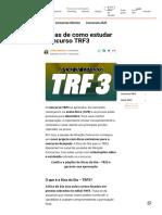 Dicas de Como Estudar Concurso TRF3
