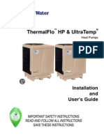 Pentair Ultra Temp Heat Pump Manual